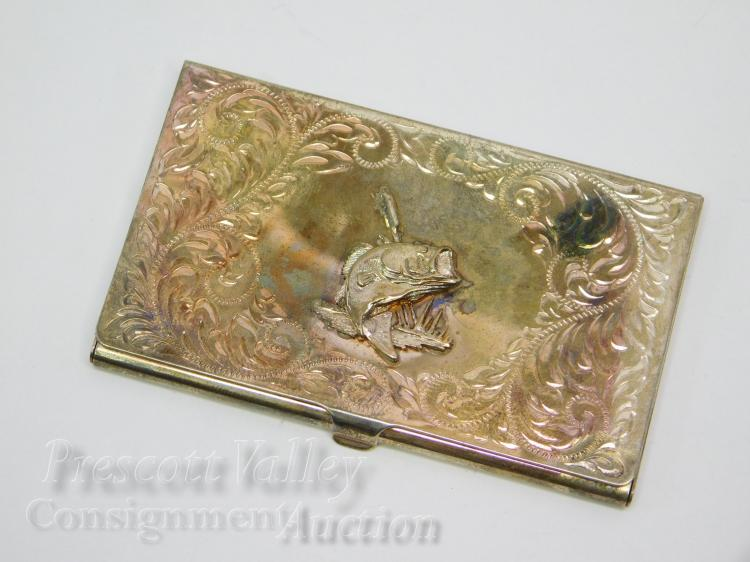 Montana Silversmiths Large Mouth Bass Western Style Card Case
