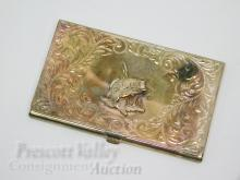Lot 115: Montana Silversmiths Large Mouth Bass Western Style Card Case