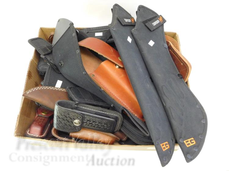 Large Lot of 51 Sheaths Including Gerber SOG and Case XX