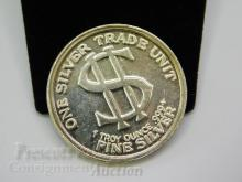 Lot 124: Morgan Dollar Style One Troy Ounce .999 Fine Silver Trade Unit Bullion Round