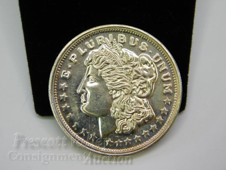 Morgan Dollar Style One Troy Ounce .999 Fine Silver Trade Unit Bullion Round