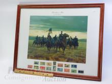 Lot 132: Sheridan's Men Mort Kunstler Civil War Print with US Postage Stamps