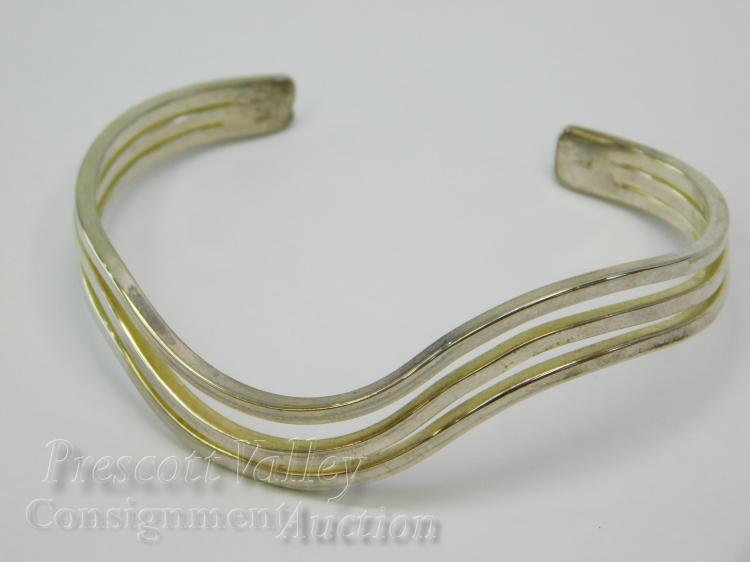 15.2 Gram Modern Sterling Silver Cuff Bracelet