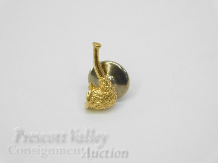 1 Gram 14K Yellow Gold Tobacco Pipe Tie Tack Pin
