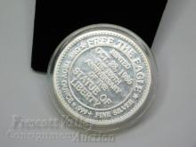Lot 142: 1986 Light of Liberty 100th Anniversary of the Statue One Troy Ounce .999 Fine Silver Bullion Round