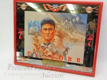 Lot 143: Vintage Ty Cobb Seagram's 7 Bourbon Advertising Mirror
