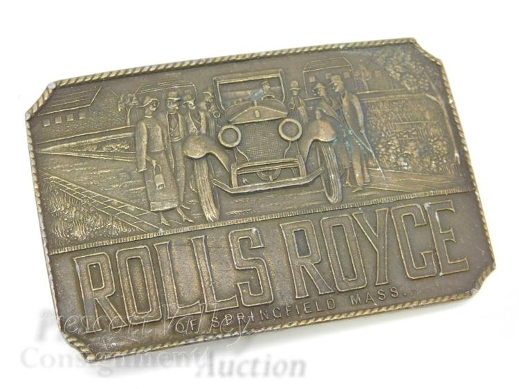 Vintage Rolls Royce Nay Wide Belt Buckle Made in England