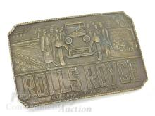 Lot 163: Vintage Rolls Royce Nay Wide Belt Buckle Made in England