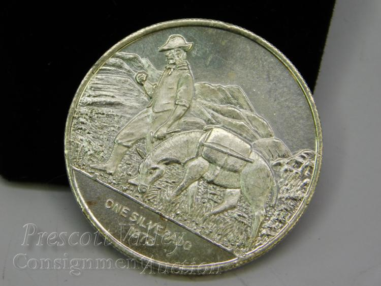 1973 World Mint Corp One Silverado Troy Ounce .999 Fine Silver Bullion Round