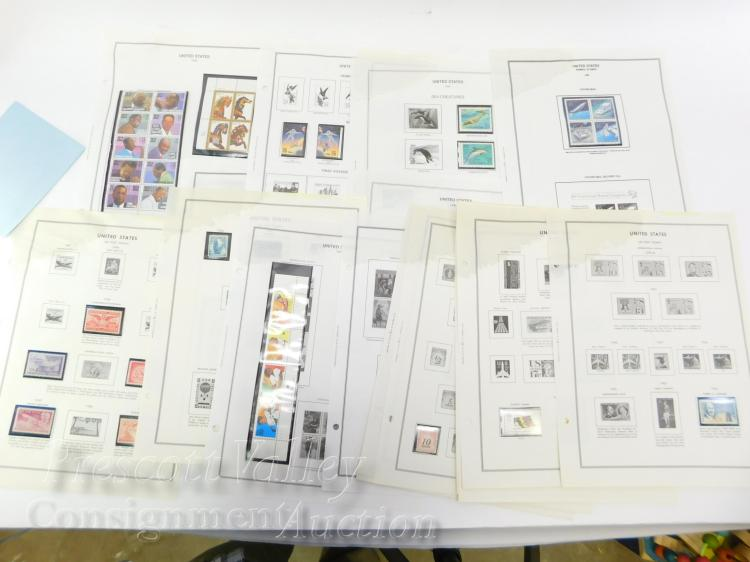 Lot of Vintage US Stamps and Sheets with $17.69 Unused Postage
