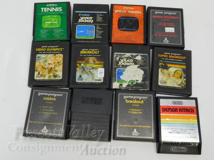 Lot of 12 Imagic Activision and Atari Game Cartridges