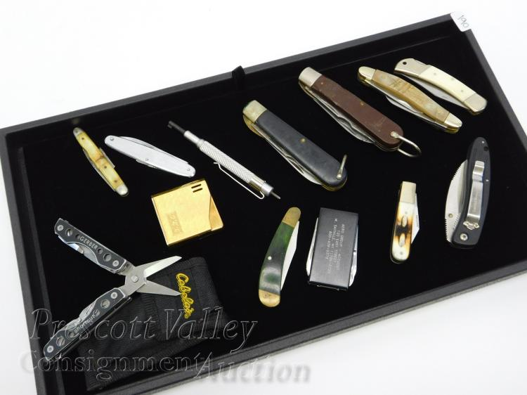 Lot of 13 Folding Pocket Knives Including Gerber and Camillus