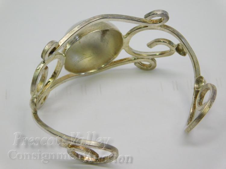 Lot 200: 22.3 Gram Stylized Sterling Silver Cuff Bracelet