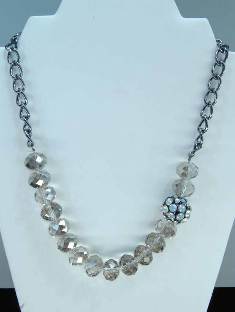 Genuine Crystal Beaded Bling Necklace