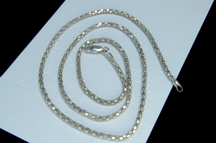 5g Sterling Silver Fancy Link Chain Necklace