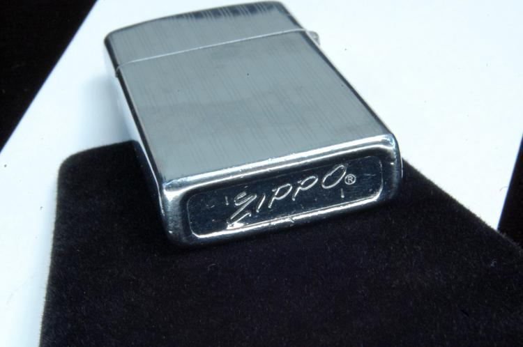 Lot 13: 1972 Zippo Slender Case Lighter