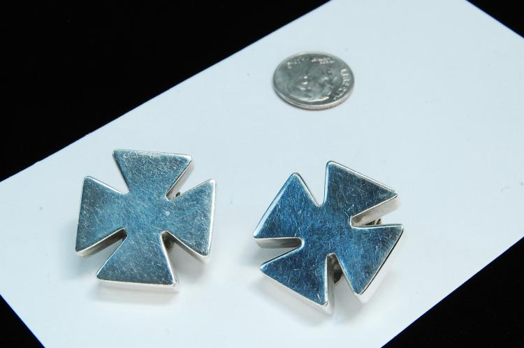 16g Sterling Kalibre Maltese Cross Earrings