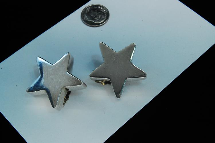 16g Sterling Kalibre Star Clip-On Earrings
