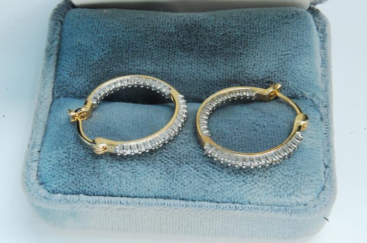 Modern Sterling Silver Vermeil Hoop Earrings