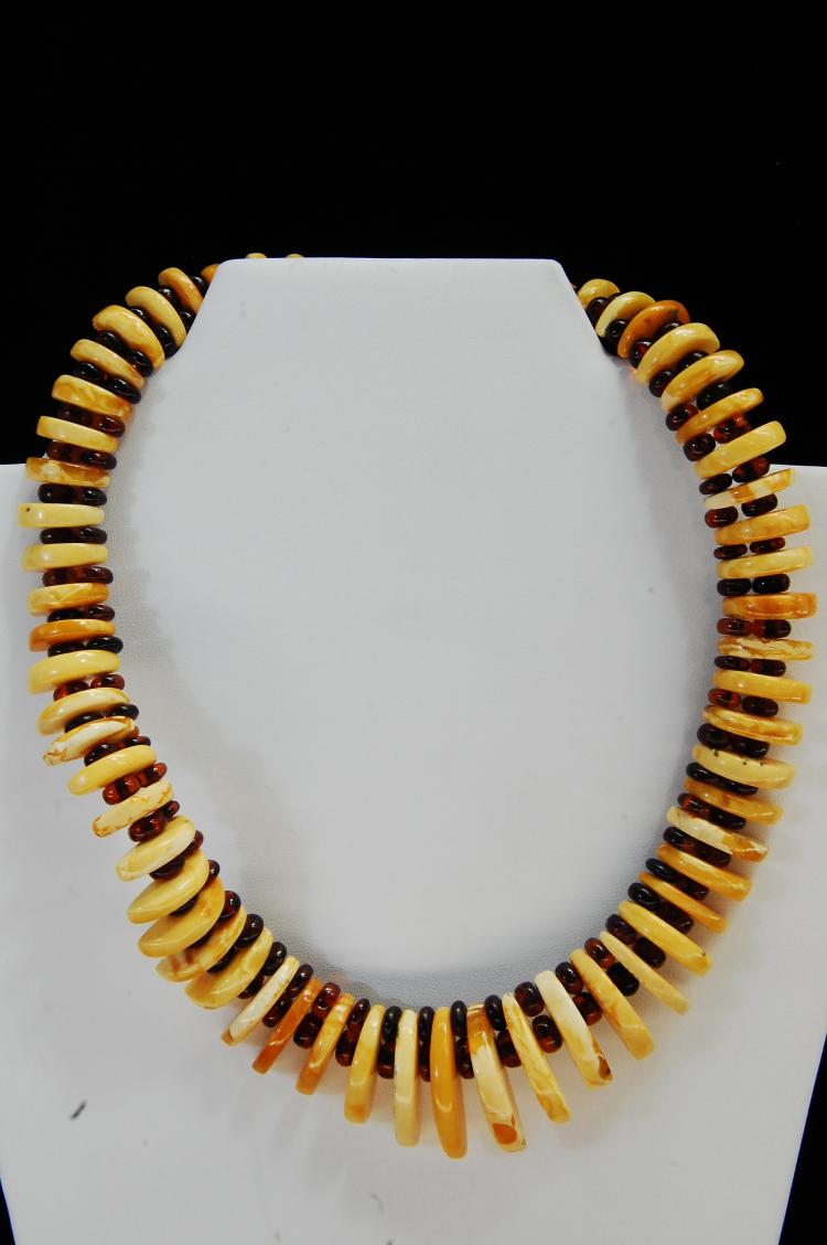 Vintage Butterscotch Amber Beaded Necklace