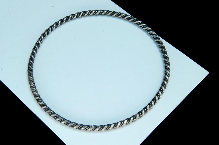 "12g Sterling Navajo ""Twisted"" Bangle Bracelet"