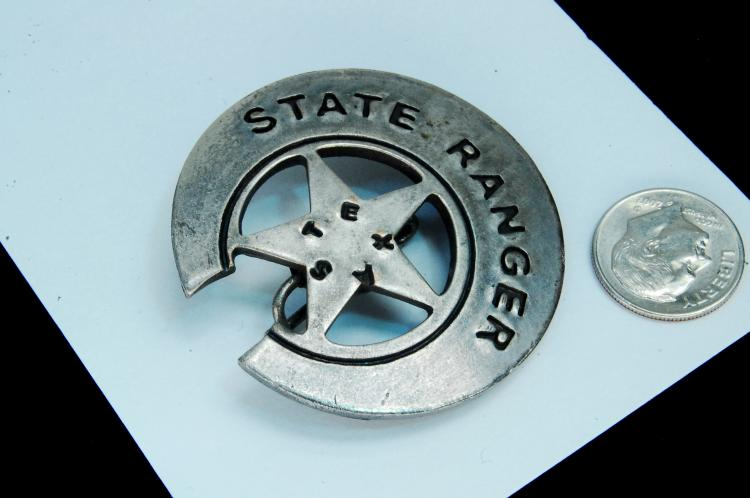 "Vintage ""Texas State Ranger"" Badge"