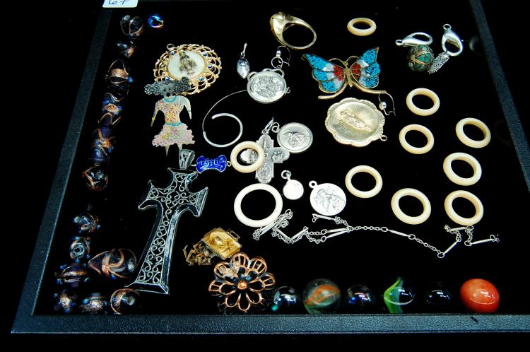 Vintage Trinket Jewelry Medallion Collectors Lot