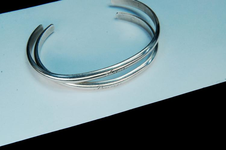 22g Sterling Handwrought Signed GW Cuff Bracelets