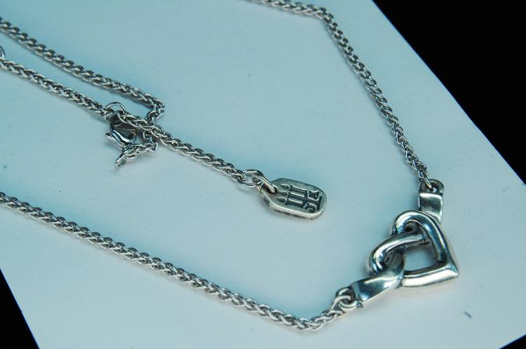 "10g Sterling James Avery ""Knotted Heart"" Necklace"