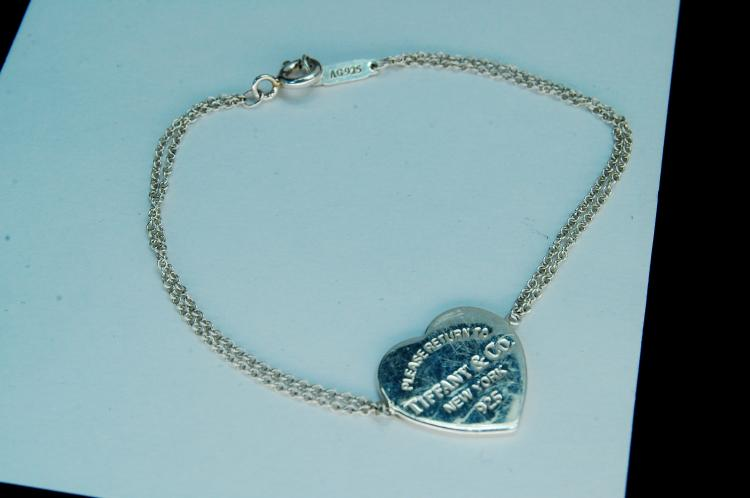 "Authentic Tiffany & Co ""Heart"" Bracelet"