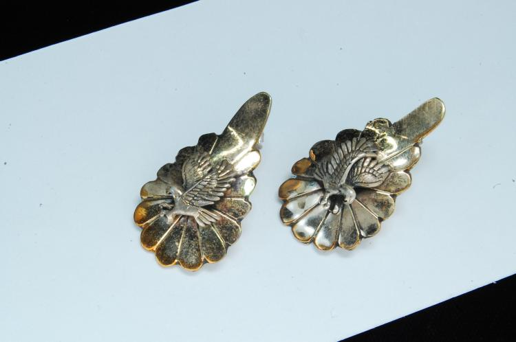 Vintage 11g Sterling Signed NT Eagle Post Earrings