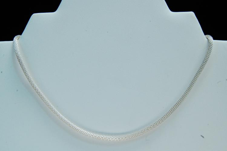 Modern Sterling Silver Fancy Link Chain Necklace