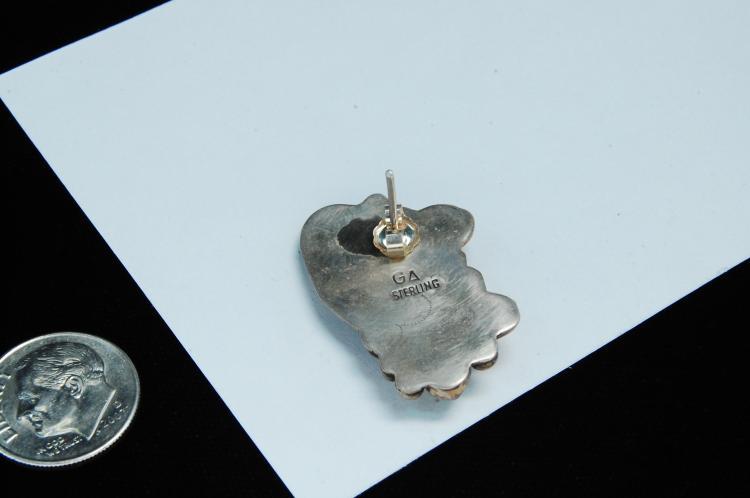 Lot 145: Vintage 13g Sterling Turquoise Navajo Earrings