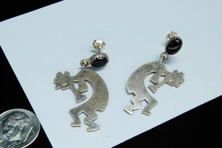 Vintage Sterling Navajo Kokopelli Post Earrings