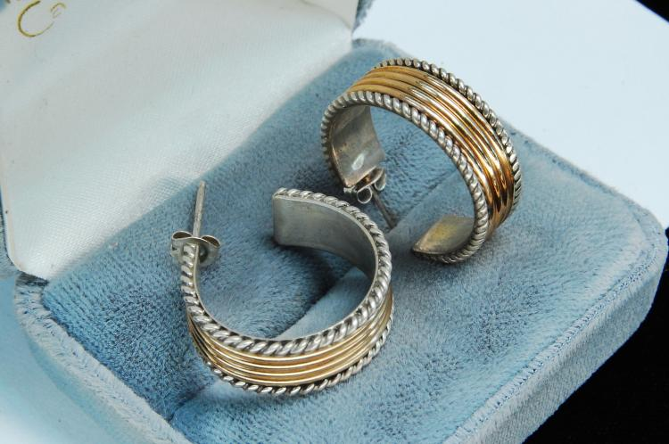 12g Sterling 12K GF Signed Tom Hawk Post Earrings
