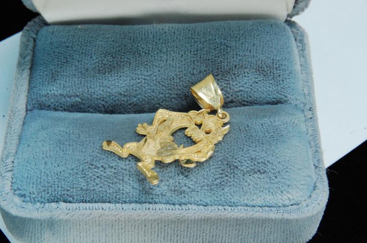 1.5g 10K Gold Tasmanian Devil Pendant