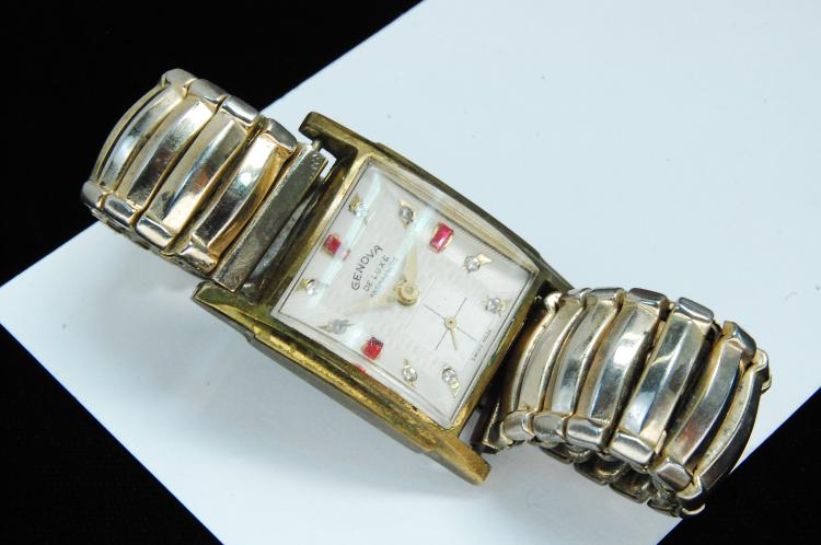 Vintage Genova Deluxe Swiss Mens Dress Watch