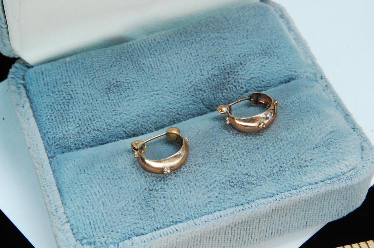Vintage 10K Gold Ladies Post Earrings