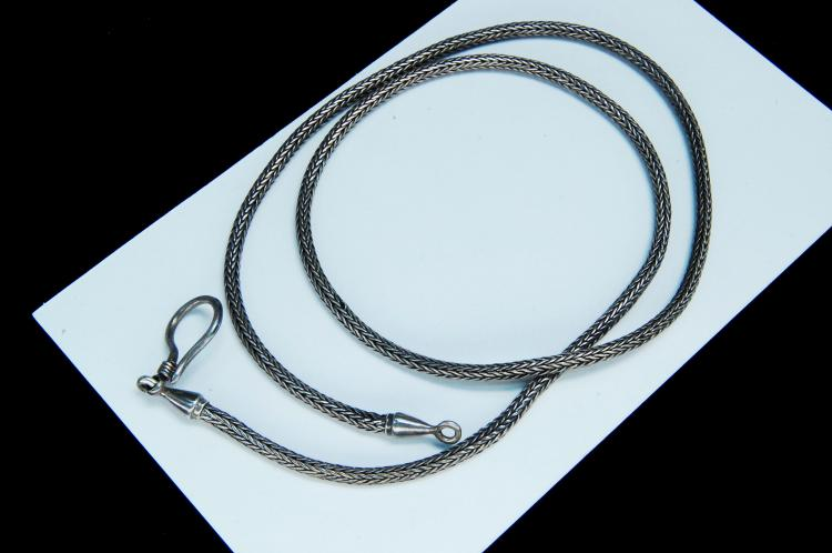 Vintage 17g Sterling Snake Style Chain Necklace