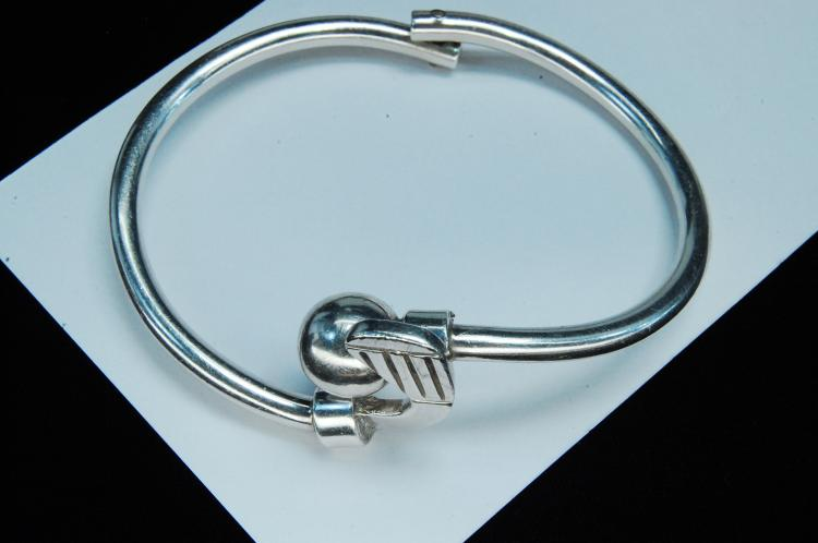 37g Sterling Mexico Golf Club Hinged Bracelet