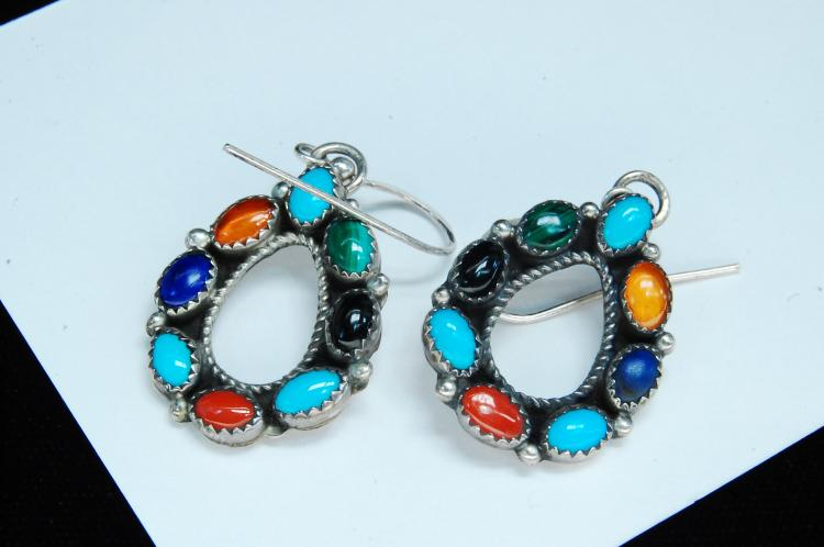 7g Sterling Silver Handmade Navajo Earrings