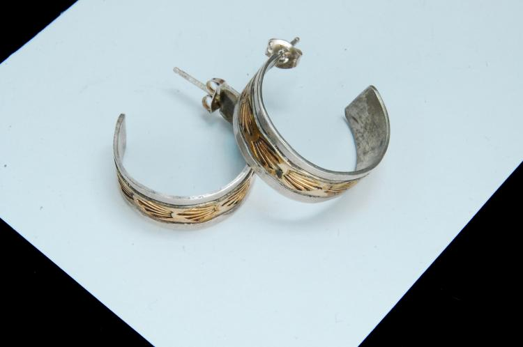 Vintage 7.6g Sterling 12K GF Hopi Post Earrings