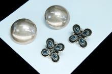 Lot 108: Vintage 12g Sterling Ladies Clip-On Earring Lot