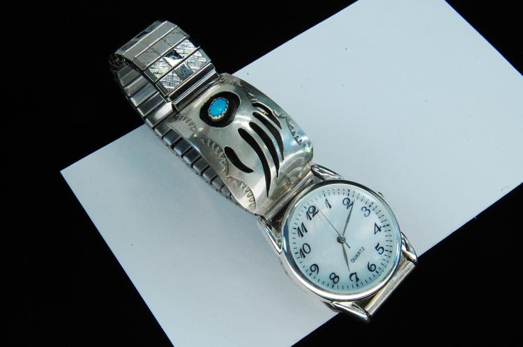 Sterling Turquoise Pfarlene Spence Watch Tips