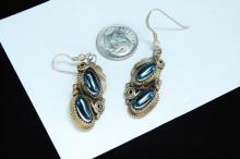 Lot 181: Vintage 10g Sterling Hematite Navajo Earrings