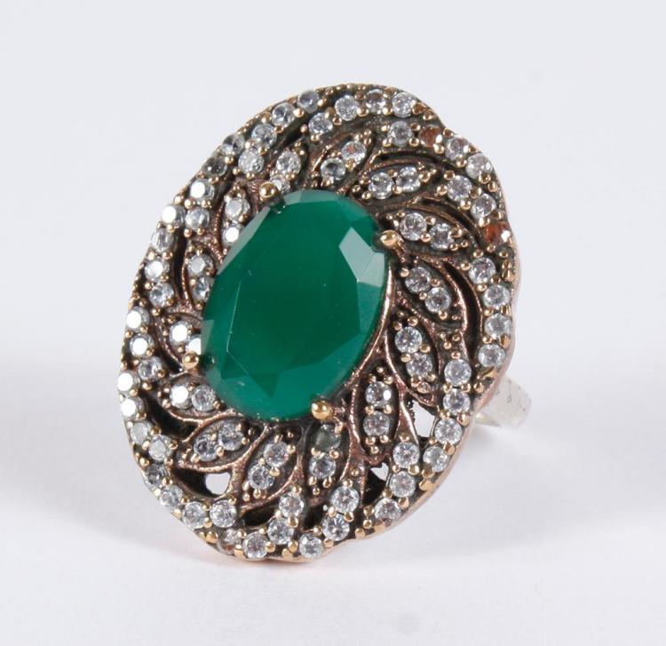 emerald white topaz ring this stunning ring has a centra