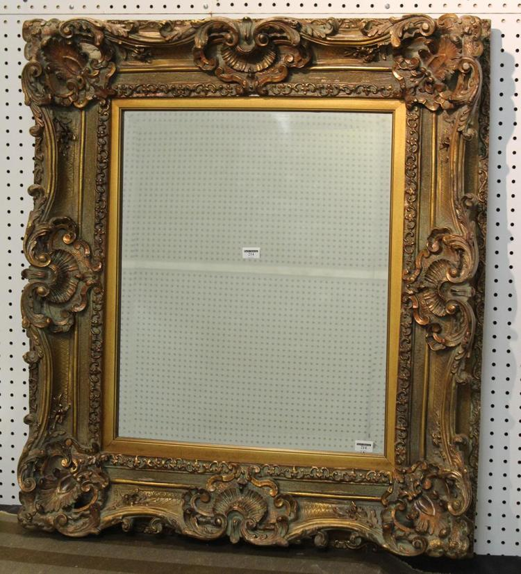 Rectangular wall mirror vintage baroque style with beveled for Baroque resin mirror