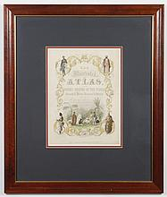19th CENTURY HAND-COLORED ENGRAVING ON PAPER - The title page to