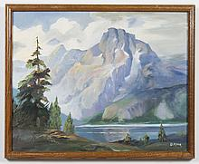 DOROTHY McCARTHY MILLER (1921-2011, WA) OIL ON CANVAS BOARD - Signed, the piece is titled