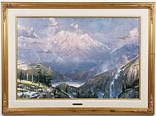 THOMAS KINKADE (1958-2012, CA) GICLEE ON CANVAS - The lithograph titled